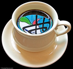 reflections in a coffee cup