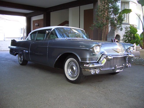 Front left Black 1957 Cadillac