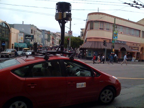 Google Maps Street Views camera car in North Beach, San Francisco (by MarkWallace)
