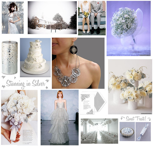As silver and white weddings are typically reserved for the winter