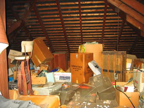 Junk filled attic