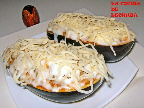 Berenjena refll.-cubrir queso cerca