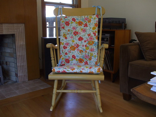 New cushions for the rocking chair