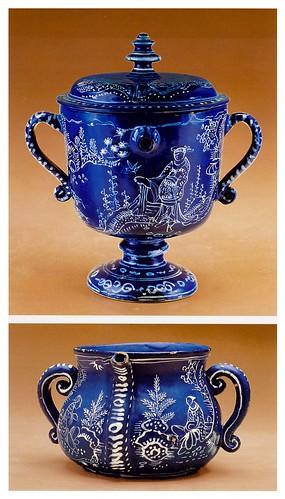15-Tazas con tapa y doble asa probablemente de Londres 1670-1695
