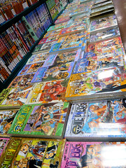 One Piece collection in manga shop