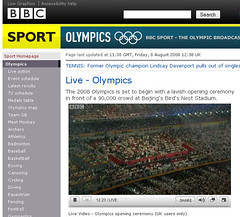 Olympics iplayer working!