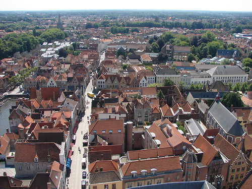 Brugge vista do alto