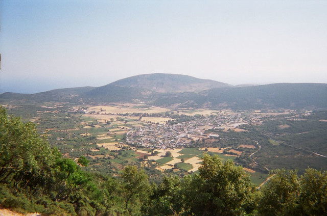 View of Valsamata village from Enos Mountain