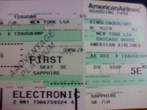 AA boarding pass