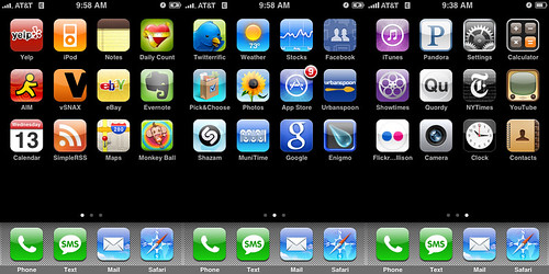 color organized iphone by Allison McCarthy.