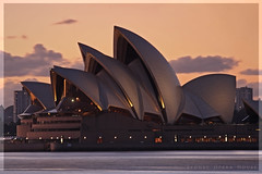 Set Sails at Dawn (l plater) Tags: architecture clouds sunrise dawn cityscape harbour sydney australia sydneyoperahouse jrnutzon mcmahonspoint bluespoint ultimateshot almostanything flickrelite theunforgettablepictures lplater unlimitedphotos
