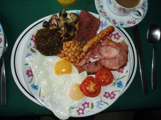 Schottisches Frühstüc Scotsbreakfast