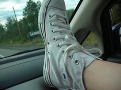 L'état de mes chaussures au départ