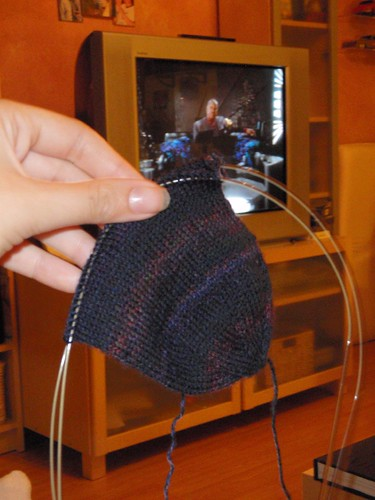 Sock in progress with Capt. Sisko