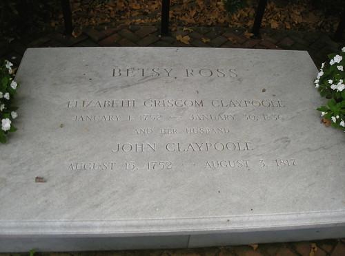 Betsy Ross' gravestone