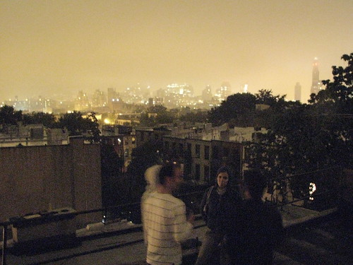 rooftop view over Manhatten