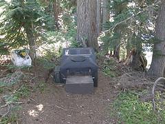 Toilet in Shriner peak camping area.