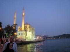 آبهای نیلگون  دریا و کشتی در حال استراحت ناخدای کستی (s_1310) Tags: در مسجد یک کشتی کنار لنگر استامبول تفریحی انداخته
