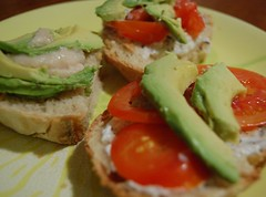 Dinner: Open faced sandwiches