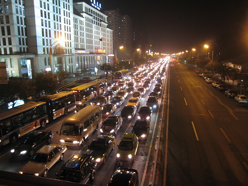 北京的塞車是相當驚人的
