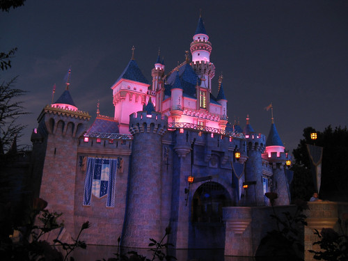 Sleeping Beauty Castle at Dusk, Disneyland Resort