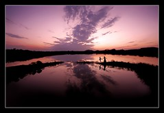beyond the horizon... (rAmmoRRison) Tags: sky india lake silhouette kids evening couple dusk magenta silence andhra blueribbonwinner ruralindia supershot top20india exploretop20 supershots rammorrison krishlikesit india10mm malreddipalli tanakal peeveelovesit pcamybestshot