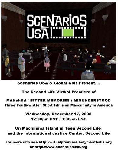 Scenarios premiere SL poster 1208