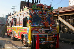 Decorated colorful buses (imranthetrekker , new year new adventures) Tags: life pakistan food tourism markets citylife culture adventure popcorn peshawar nwfp oldcity inns slums caravans pathans khyberpass meansoftransport torkham imranthetrekker imranschah decoratedbuses aplusphoto tribalareas chitralguy