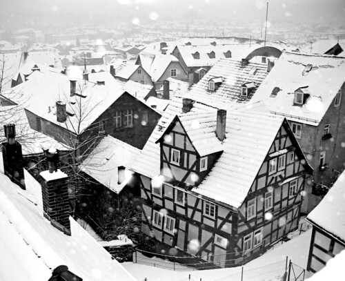 Snow in Marburg, Germany
