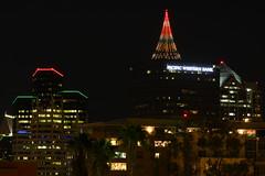 Happy Holidays from San Diego! (San Diego Shooter) Tags: skyline cityscape sandiego sandiegoskyline downtownsandiego sandiegoatnight