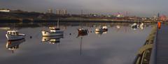 Hebburn Quay C (SausageArm) Tags: reflection water reflections river newcastle boats boat bill riverside north tyne quay flats reflected reflect walker shipyard northeast tyneside hebburn newcastleupontyne quayside shipyards