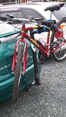 Milazo and Bike Carrier (gutenblerg2) Tags: bike wheel fun cycling tour ride seat spokes tire chain trail cycle dunedin fit pedal