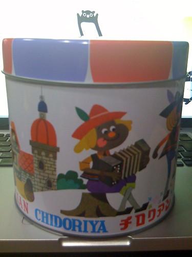 チロリアンの缶