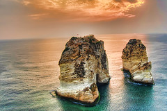 Rawshi Rock (A. Saleh) Tags: sunset sea sky water beirut nikond200 fpg asaadsaleh beirutlebanon abigfave topazadjust rawshirocklebanon rawshiatsunset