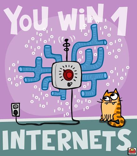 win 1 free internetz!