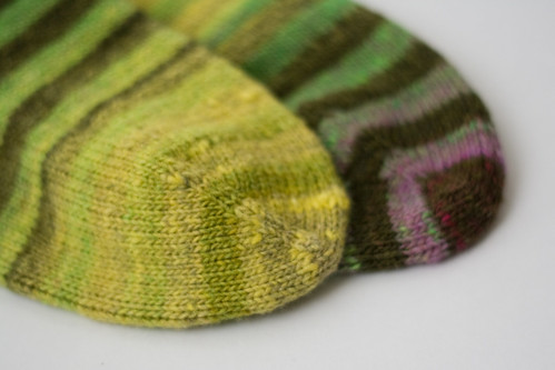 noro sock toes