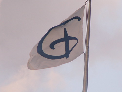 "The Disney ""D"" flag"