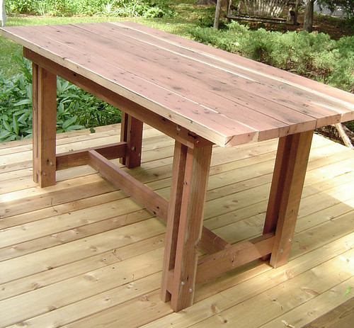 Table made from old deck