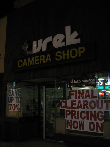 Final Clearout at Turek Camera Shop