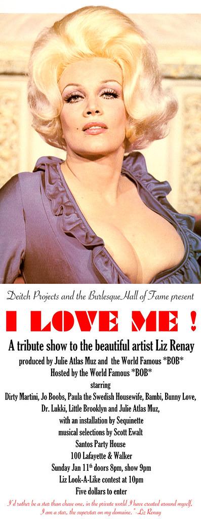 I-love-me liz renay burlesque