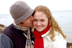 Collin and Rachel (taberandrew) Tags: winter ny newyork beach kiss couple collin facebook easthampton rachelw suffolkcountyny facebook:aid=2257701 facebook:user=7801049 facebook:user=7807021
