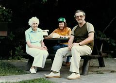 Olive, Wayne and Brian (Brian Bowrin) Tags: ontario robert 1982 picnic brian wayne hill olive perth 1980s dobson bowrin