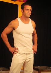 Vince Pavia as Peter Rison 094 (danimaniacs) Tags: show white rehearsal stage tanktop denim vincepavia chicosangels peterrison