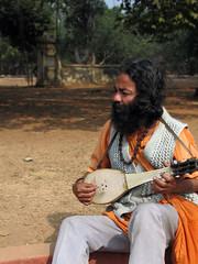 Baul of Ghanta Tala (paulancheta) Tags: india man indian minstrel westbengal baul dotara visvabharati santinitekan