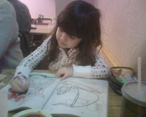 Mina hard a work coloring