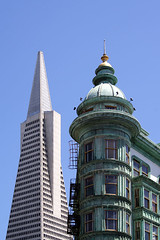 San Francisco, CA (max-faber) Tags: sf sanfrancisco california ca city usa west building by bay coast cafe san francisco pyramid area bayarea transamerica westcoast transamericapyramid sentinel zoetrope citybythebay sentinelbuilding cafezoetrope maxfaber