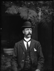 Portrait of a man in suit with waistcoat (Powerhouse Museum Collection) Tags: portrait people adam hat vintage outdoors perfect exposure buttons grain movember moustache suit jacket handlebar vest mustache elegant bowler gentleman waistcoat necktie portre powerhousemuseum dapper antiquated cravat pocketsquare edwardianera xmlns:dc=httppurlorgdcelements11 fobchain dc:identifier=httpwwwpowerhousemuseumcomcollectiondatabaseirn386422