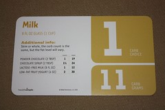 FlashCarbs - back of card