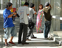 Behind The Scene (Fu Ad) Tags: woman color girl indonesia model asia power comel scene malaysia kualalumpur behind d200 putrajaya bonnet con asean kamera selangor kasut baring the cantik cun chot fuadabdullah putrajayaholding portraitureputrajaya