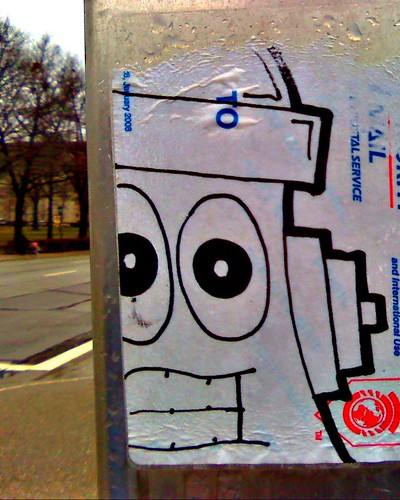 not a robot graffiti